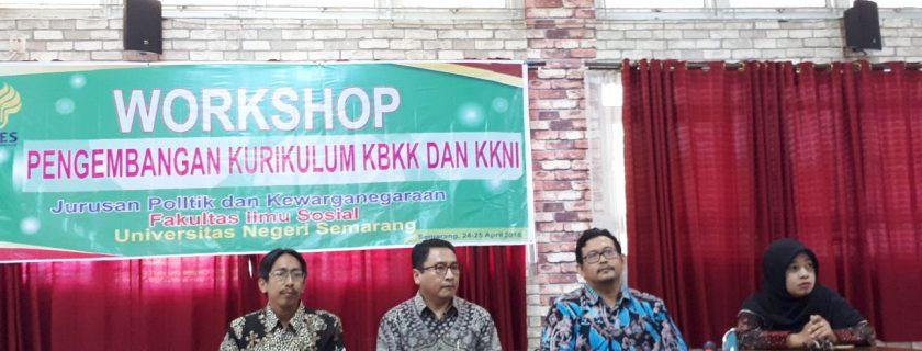 Workshop tentang pengembangan Kurikulum KBBI dan KNNI