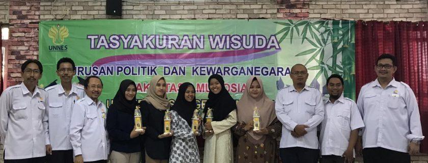 Tasyakuran Wisuda Jurusan PKn FIS UNNES Perioden 5 2019